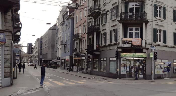 Kreuzung Langstrasse-Schöneggstrasse