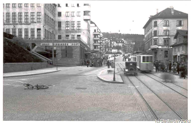 Altes Foto vom Wipkingerplatz 1937